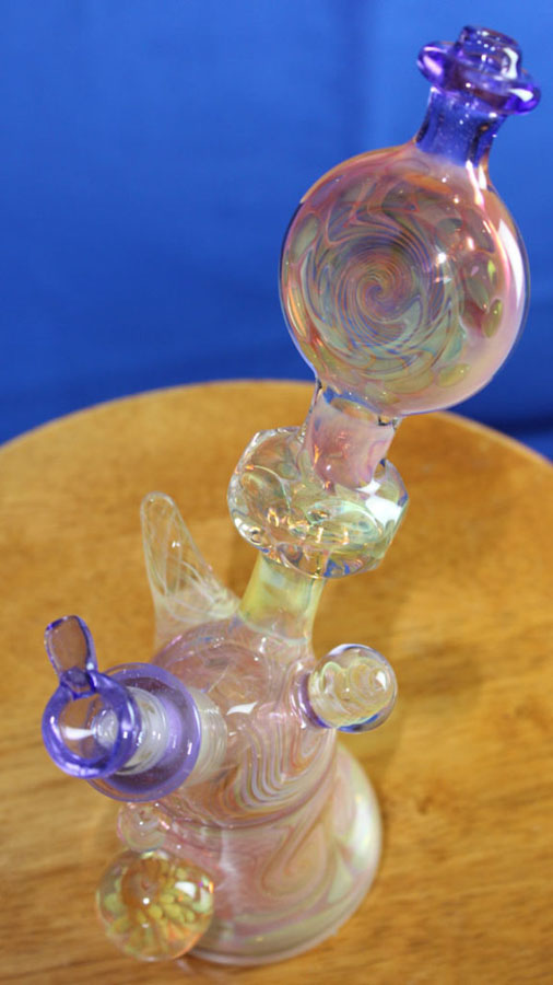 Groe Gold Fumed MiniTube with Purple Lollipop lipwraps
