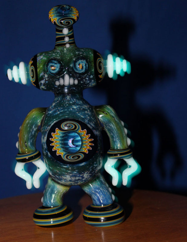 Koji Glass Glow in the Dark Spacetech Robot